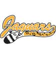 jaguar logo mascot font vector image vector image