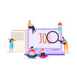 job search candidate concept characters laptop vector image