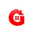 letter g house shape icon symbol design vector image