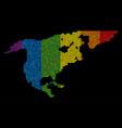 lgbt pixel north america map vector image vector image