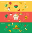 Mexico flat banner set vector image vector image