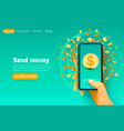 mobile financial application bank service smart vector image vector image