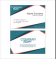 modern simple business card template 2 vector image vector image