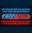 neon light alphabet extra glowing modern type vector image vector image