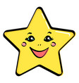 object yellow star with a face vector image