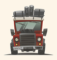 Off road fully loaded adventure car vector image vector image