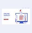 online survey banner - customer feedback and vector image vector image