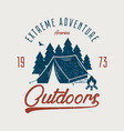 outdoors t-shirt vector image vector image