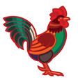 patterned rooster vector image vector image