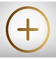 Positive symbol plus sign vector image vector image