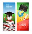school vertical banners vector image vector image