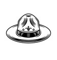 scout hat graphic object or design element vector image vector image