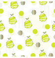 seamless pattern with pears and abstract circles vector image