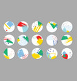 set highlight covers geometric abstract vector image vector image