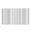set line art decorative elements border and vector image