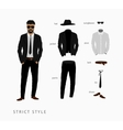 set strict style of menswear vector image vector image