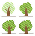 set tree icon logo vector image