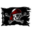 skull and bones on a pirate flag vector image