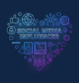 social media influencer heart colorful line vector image vector image