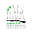 soldier fashion greeting cool t-shirt poster vector image vector image