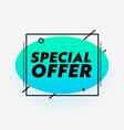 special offer banner sale advertising with vector image vector image