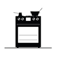 stove black and white vector image