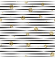 striped black and white seamless pattern with vector image vector image