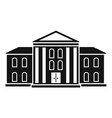 supreme courthouse icon simple style vector image vector image