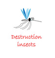 symbol funny mosquito insect vector image