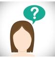 Think design Head icon Flat vector image