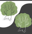 tree on different backgrounds for your choice vector image vector image