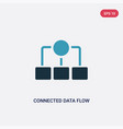 two color connected data flow chart icon from vector image vector image