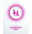 Valentines Day card with couple vector image vector image