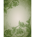 Vintage floral green vector | Price: 1 Credit (USD $1)