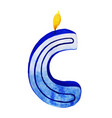 watercolor happy birthday letter c candle vector image