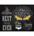 Wedding Set chalk color vector image vector image