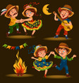young woman dancing salsa on summer festivals vector image vector image
