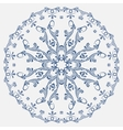 circular blue pattern in Russian style vector image