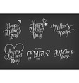 Vintage Happy Mothers Day Typographical Labels Set vector image