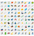 100 home repair icons set isometric 3d style vector image vector image