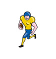 American Football Running Back Cartoon vector image vector image
