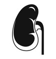 anatomical kidney icon simple style vector image vector image