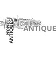 antique toy trains text word cloud concept vector image vector image