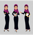 arab business women characters in different poses vector image vector image