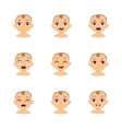 Baby emoticons and kid emoji set vector image vector image