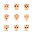 baby emoticons and kid emoji set