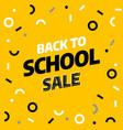 back to school sale template design vector image vector image