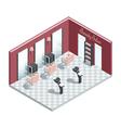 Beauty Salon Isometric Interior vector image vector image