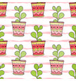 Cactuses seamless pattern colorful cartoon