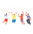 celebrating modern people young happy person vector image vector image